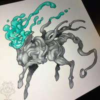 Lava goo horse