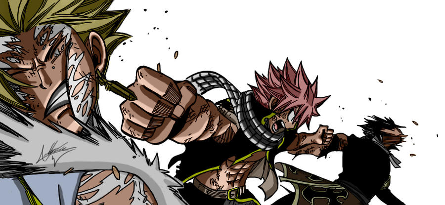 Natsu vs Sting and Rogue by APartTimeEnthusiast on DeviantArt