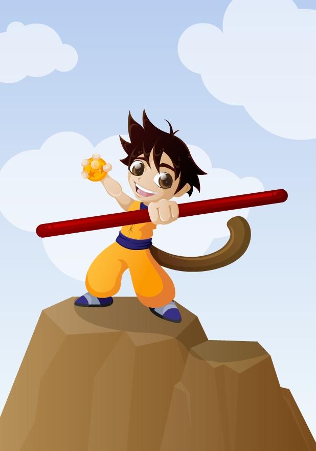 Goku by TiffanySketches