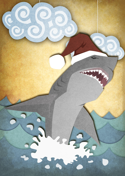 Christmas Shark by TiffanySketches