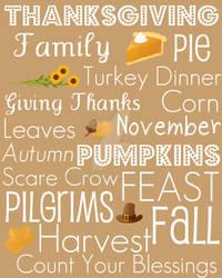 Thanksgiving Subway Art