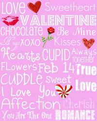 Valentines Day Subway Art