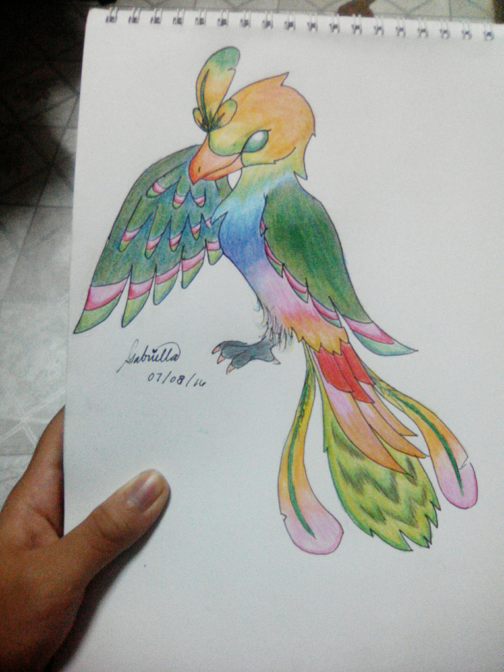 Rainbow Phoenix by imatrashcan2