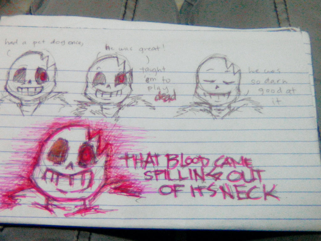 Horror Sans being...Horror Sans? by imatrashcan2