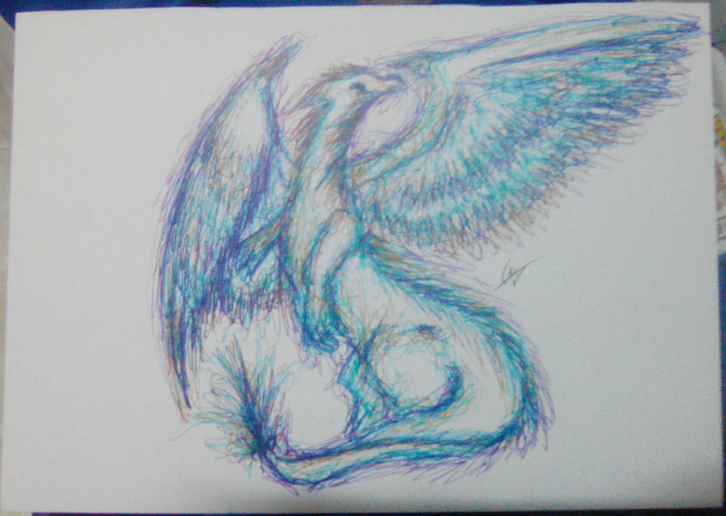 Blue Dragon by imatrashcan2