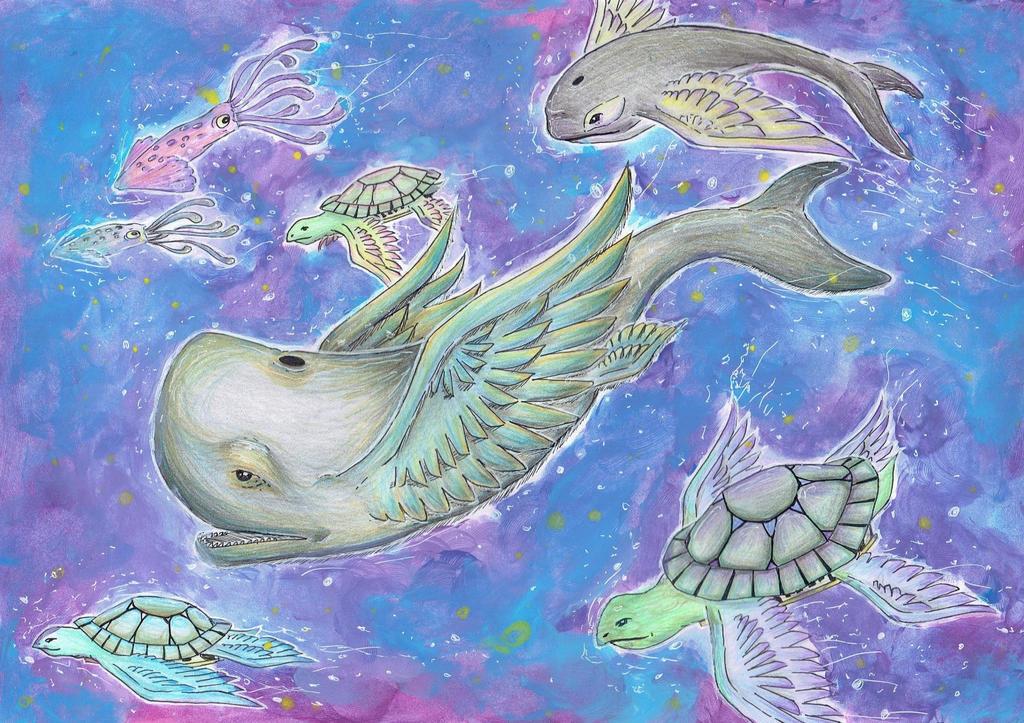 Deep Space Creatures by imatrashcan2