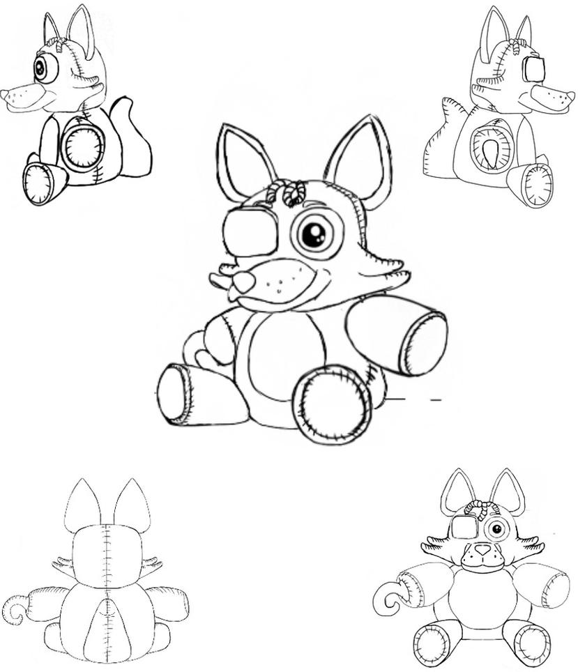foxy coloring pages - fnaf foxy free colouring pages