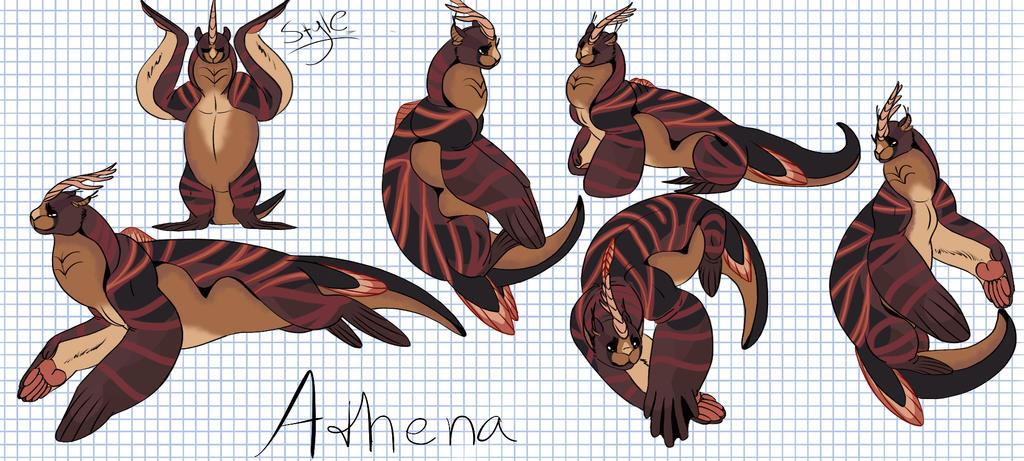 Athena by Autumnbirds. Overdone ref sheet by Karotcake