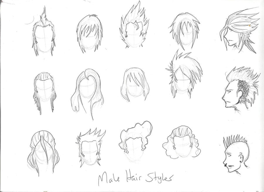 how to draw hair boy