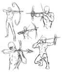 drawing bow poses