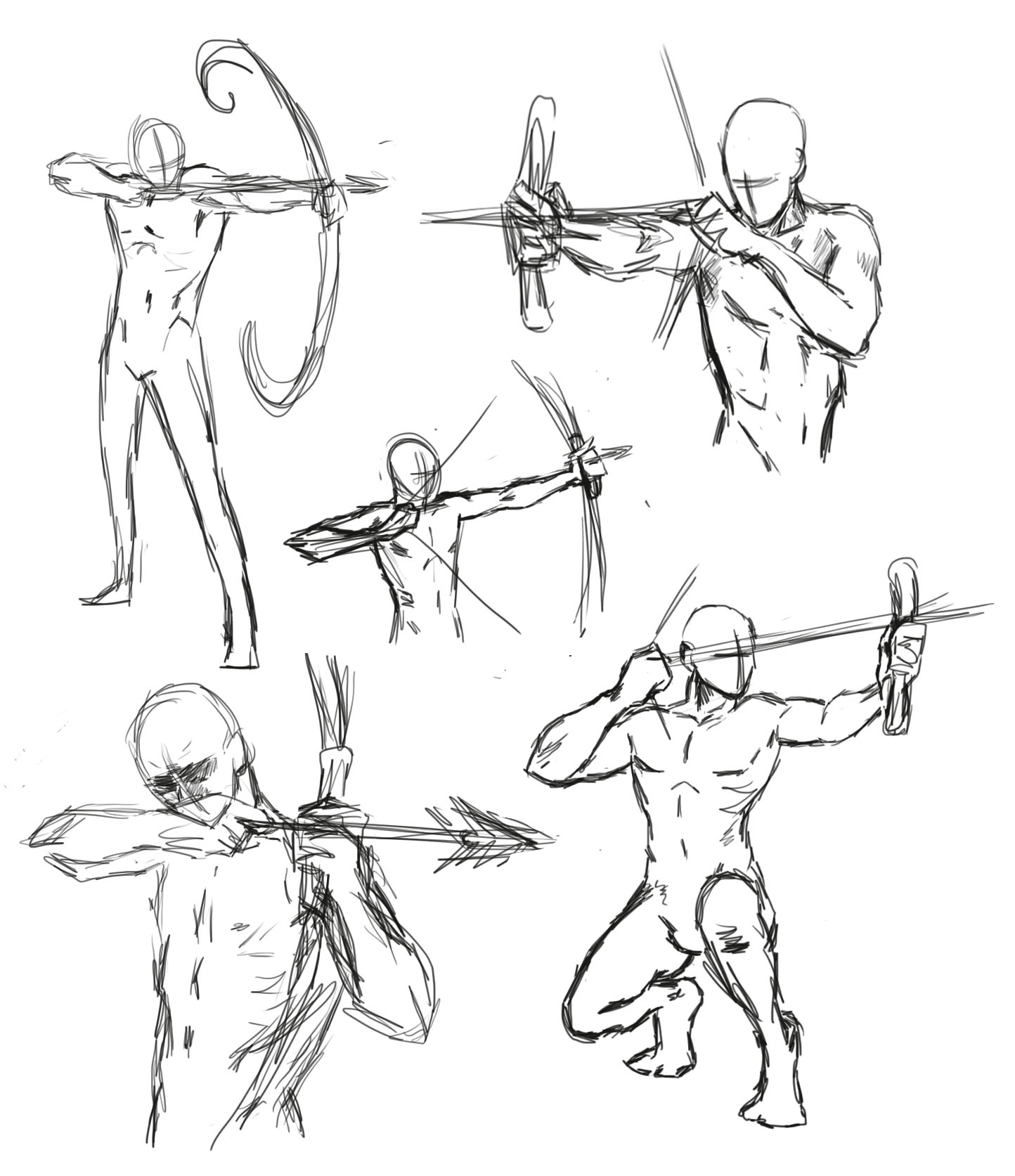 Drawing Bow Poses By Thealtimate
