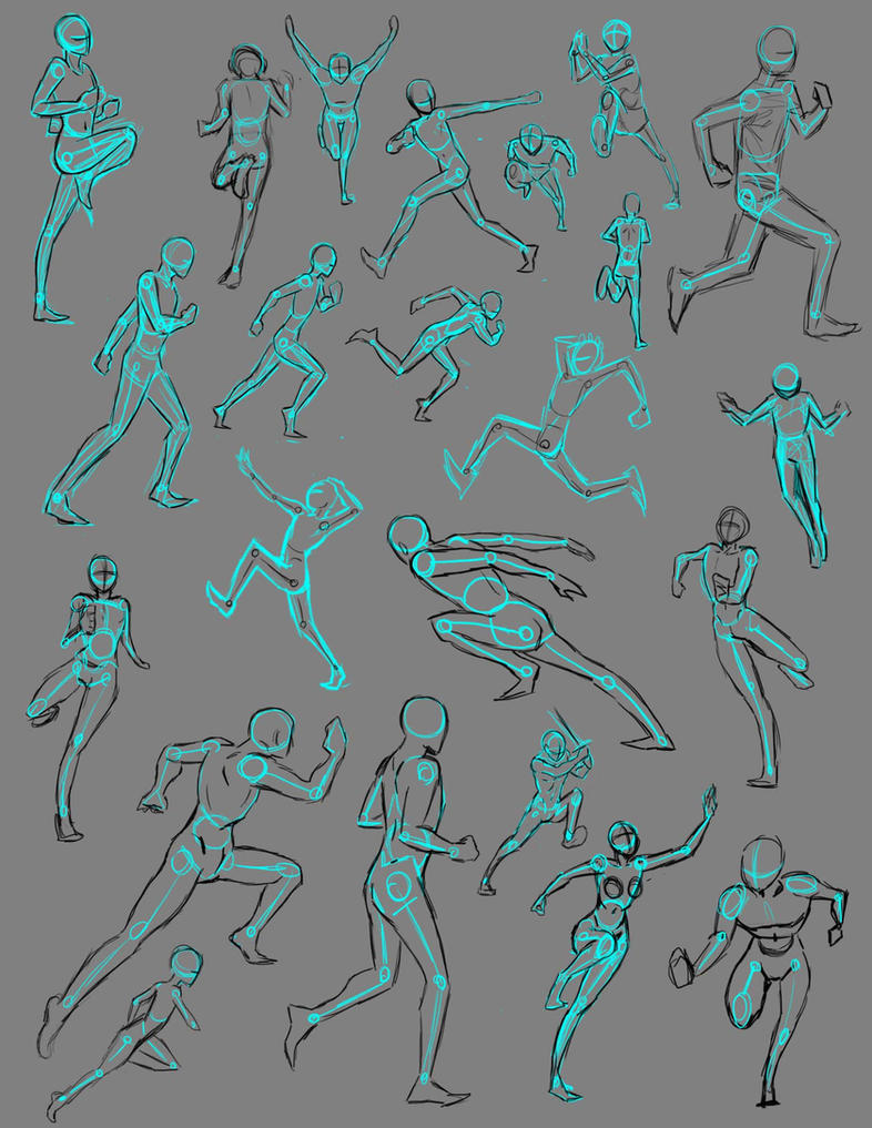 Anime Characters Running : Running poses by thealtimate on deviantart