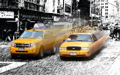 Cabs of New York by TheCreativeTablet