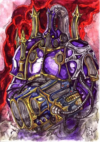 [W40K] Collection d'images : Space Marines du Chaos - Page 4 Warhammer_40_k_noise_marine_by_sufferst-d3drlm7