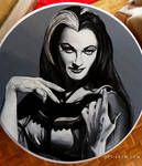 Lily Munster Coffee Table Painting