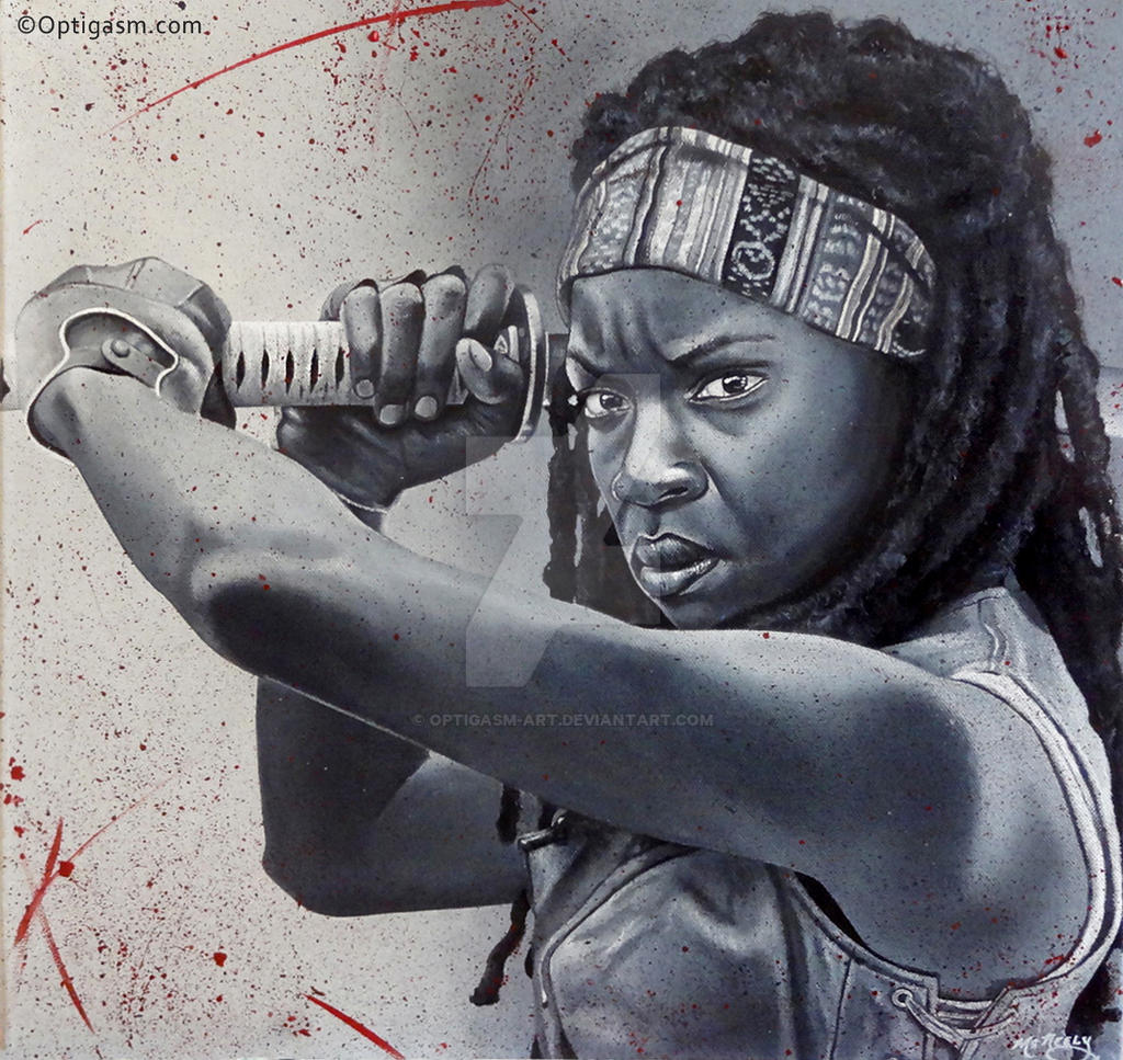 Michonne - The Walking Dead Painting