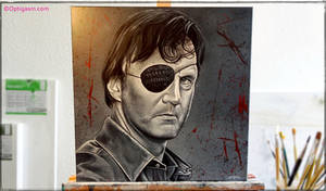 The Governor - The Walking Dead Painting