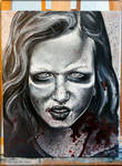 Zombie Sophia - The Walking Dead Painting