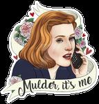 'Mulder, it's me' sticker design by Ruru-W