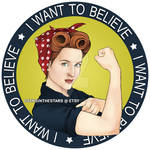 Scully the riveter, I want to believe. by Ruru-W