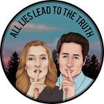 All lies lead to the truth - sticker design by Ruru-W