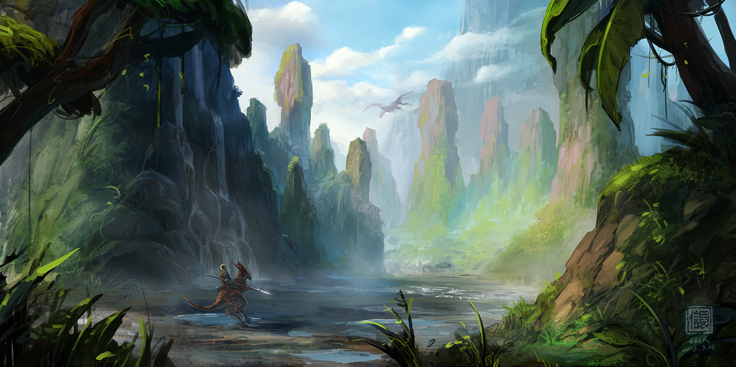 Practise work: concept art valley by 6kart