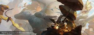 Painting Process of 'Dragon Hunter'