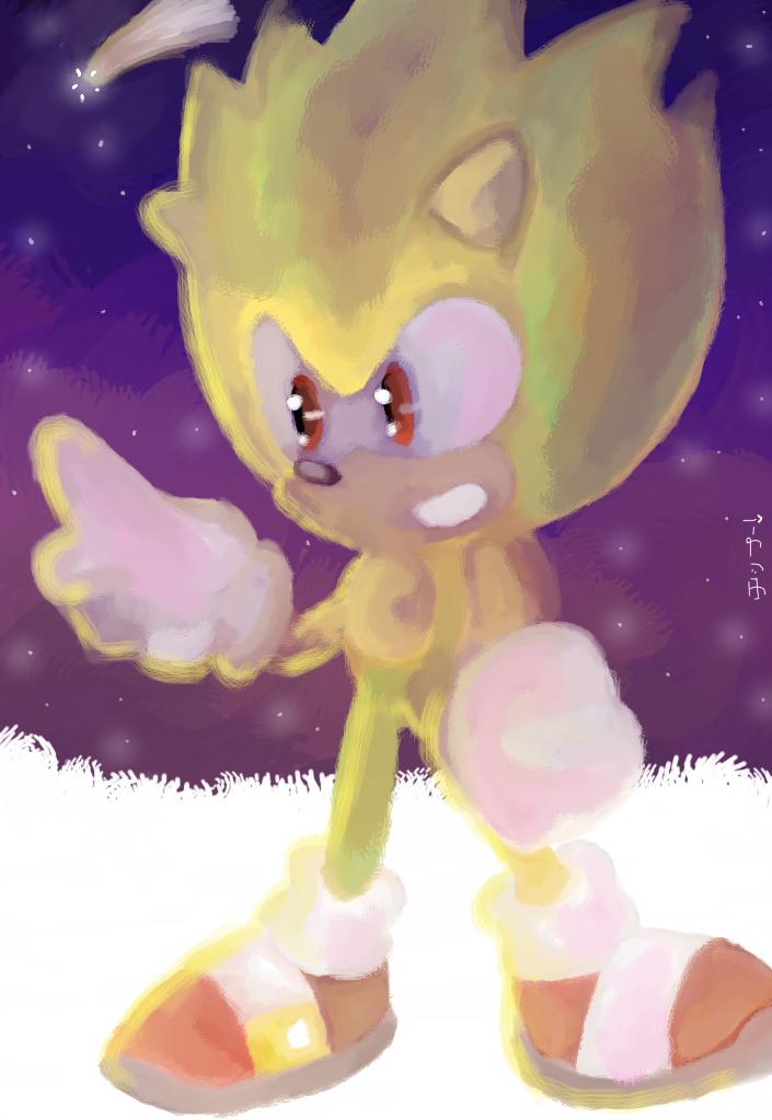 Cosmic Sonic .:GIFT:. by chippuuuu