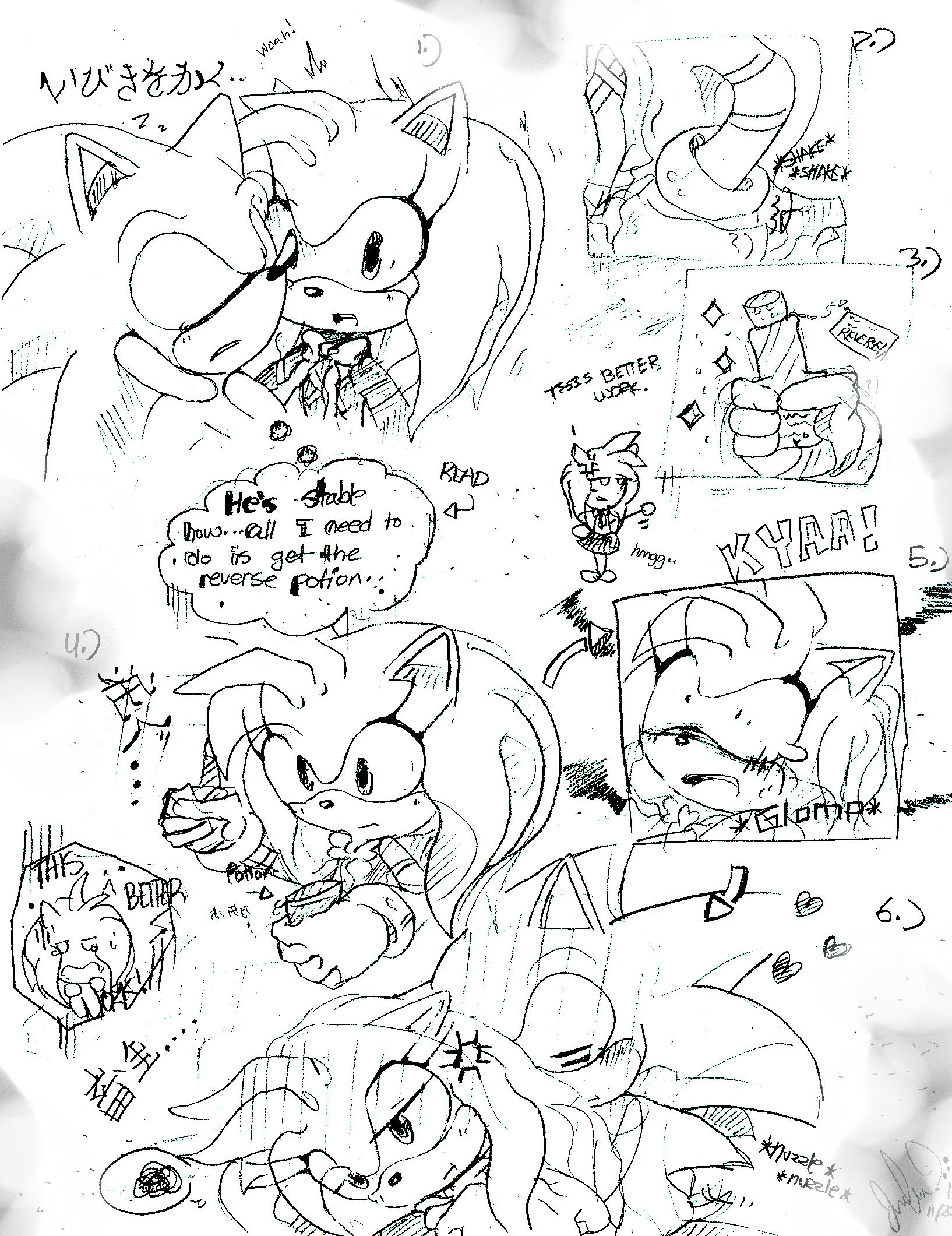 Manga Sketch Test by chippuuuu