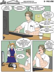 Geek Roommates #9 - His job ENG by AsFoxger