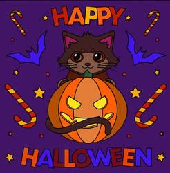 Happy Halloween Cat by DuoSmexyMaxwell