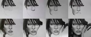 Milla Jovovich WIP by TanyaMusatenko