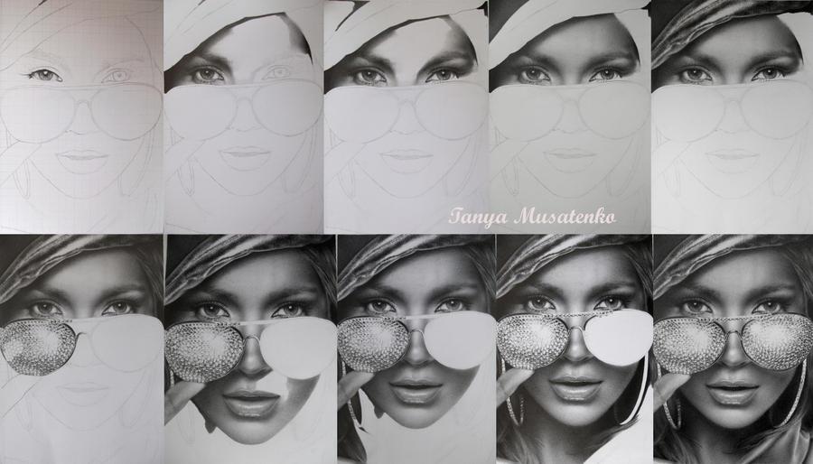 Jennifer Lopez WIP by TanyaMusatenko