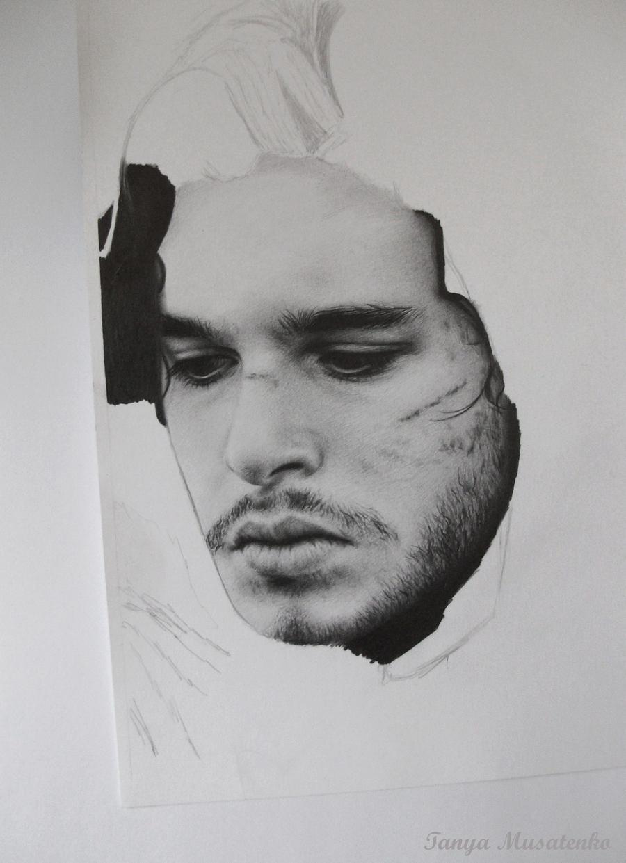Jon Snow WIP by TanyaMusatenko