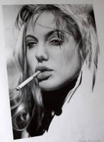 Angelina Jolie WIP by TanyaMusatenko
