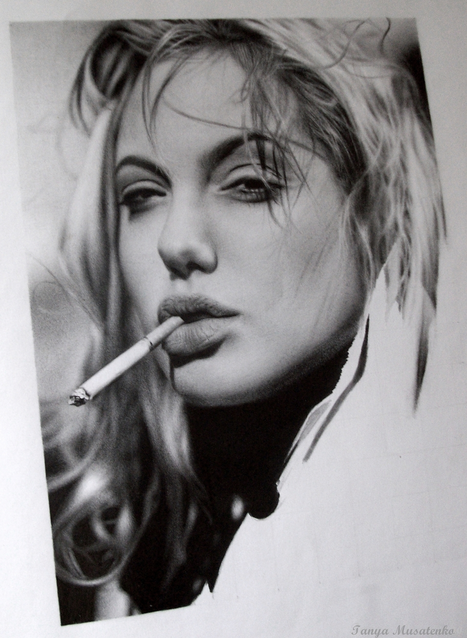 Image result for angelina jolie black and white