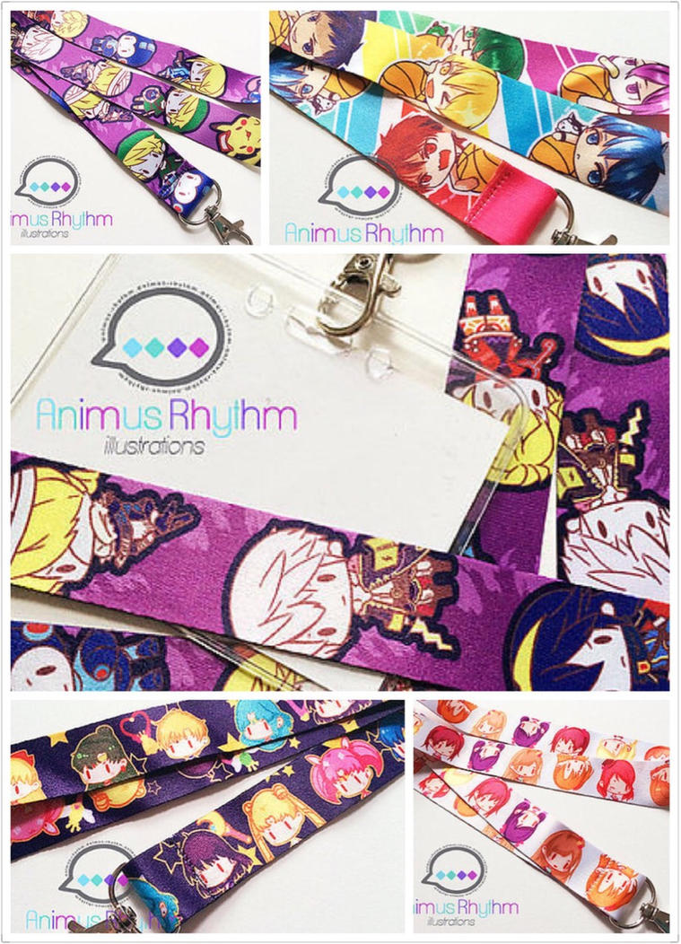Anime Lanyard with SSb, Sailor moon, Love Live etc by Animus-Rhythm