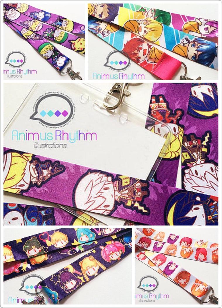 Anime Lanyard with SSb, Sailor moon, Love Live etc by Animus-Rhythm