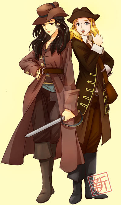 Mary Magdalene and Robin in Manga Pirate Costume by Xin-Art-Studio on DeviantArt