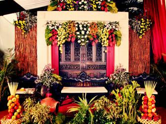 Javanese Traditional Wedding Decoration