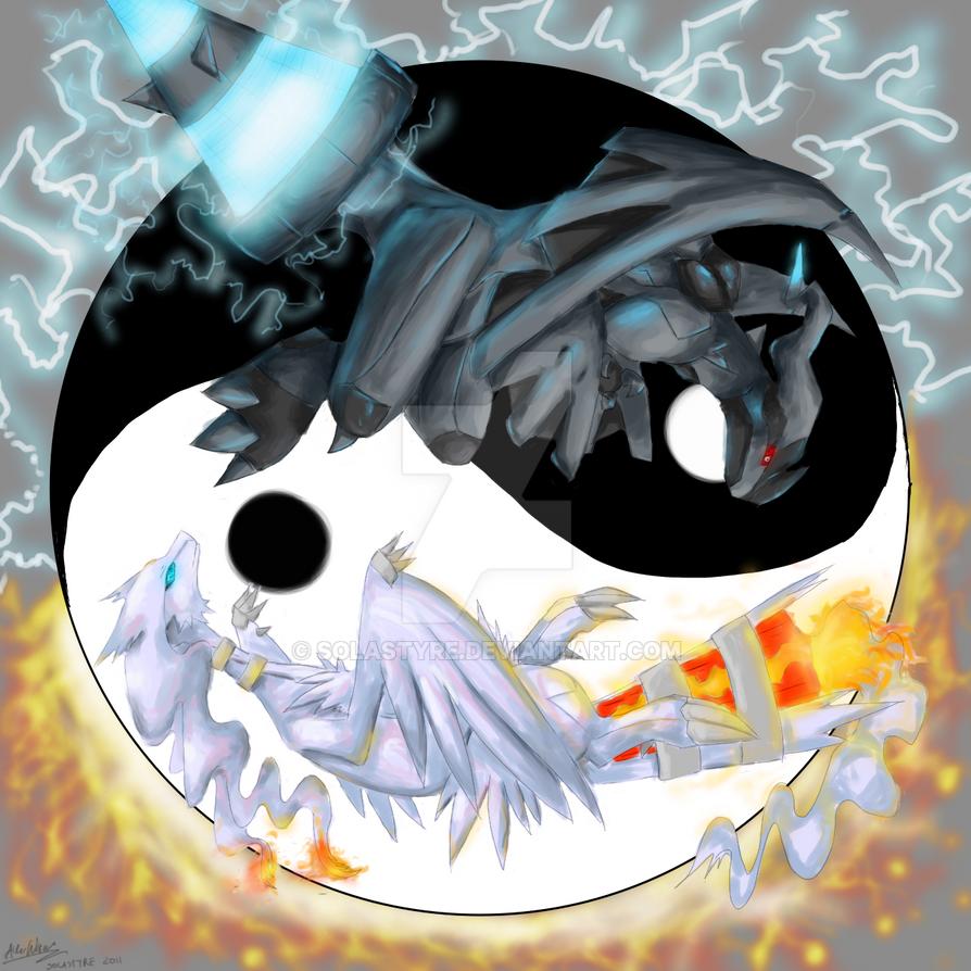 Yin Yang Zekrom Reshiram by Solastyre