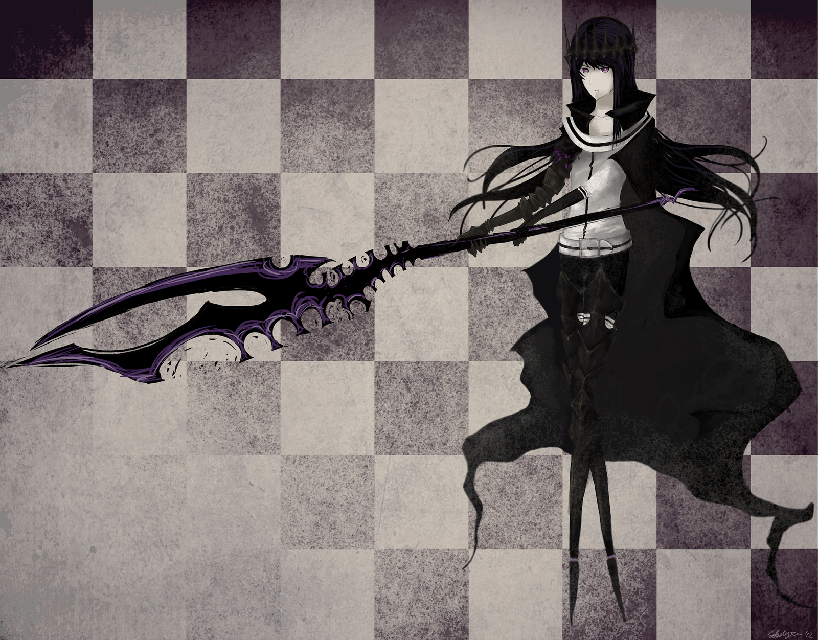 Black Rock Shooter--Original Character by Solastyre