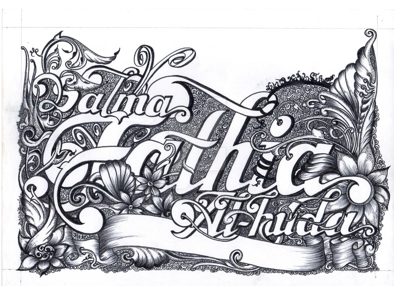 VIGNETTE Hand Lettering Decorative 003