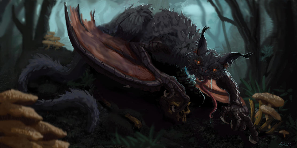 Bat Dragon by Sam-Mierz on Dev...