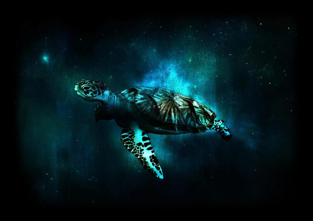 Sea turtle.jpeg by alexkerrart
