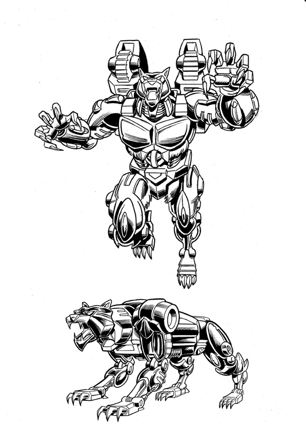 Beast Wars Ravage by Simon-Williams-Art