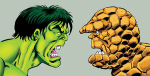 Hulk and Thing... face to face