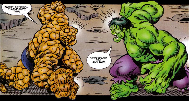 incredible hulk smash the thing