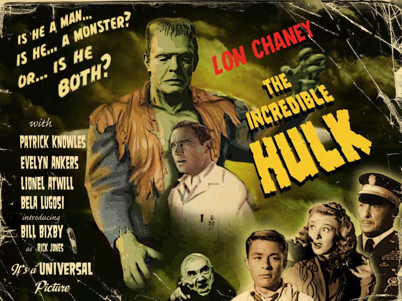 Lon Chaney Jr As The Hulk By Simon Williams Art On Deviantart
