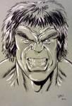 Lou Ferrigno Hulk convention sketch